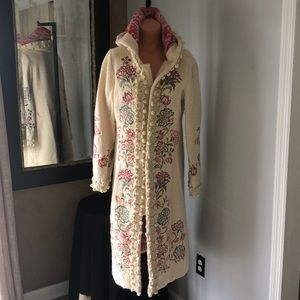 Anthropologie Lithe Embroidered mountain coat
